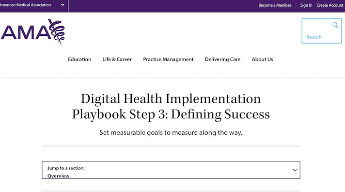 AMA launches Digital Health Implementation Playbook
