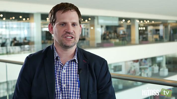 Adam Culbertson at HIMSS Innovation Center talks to HIMSS TV