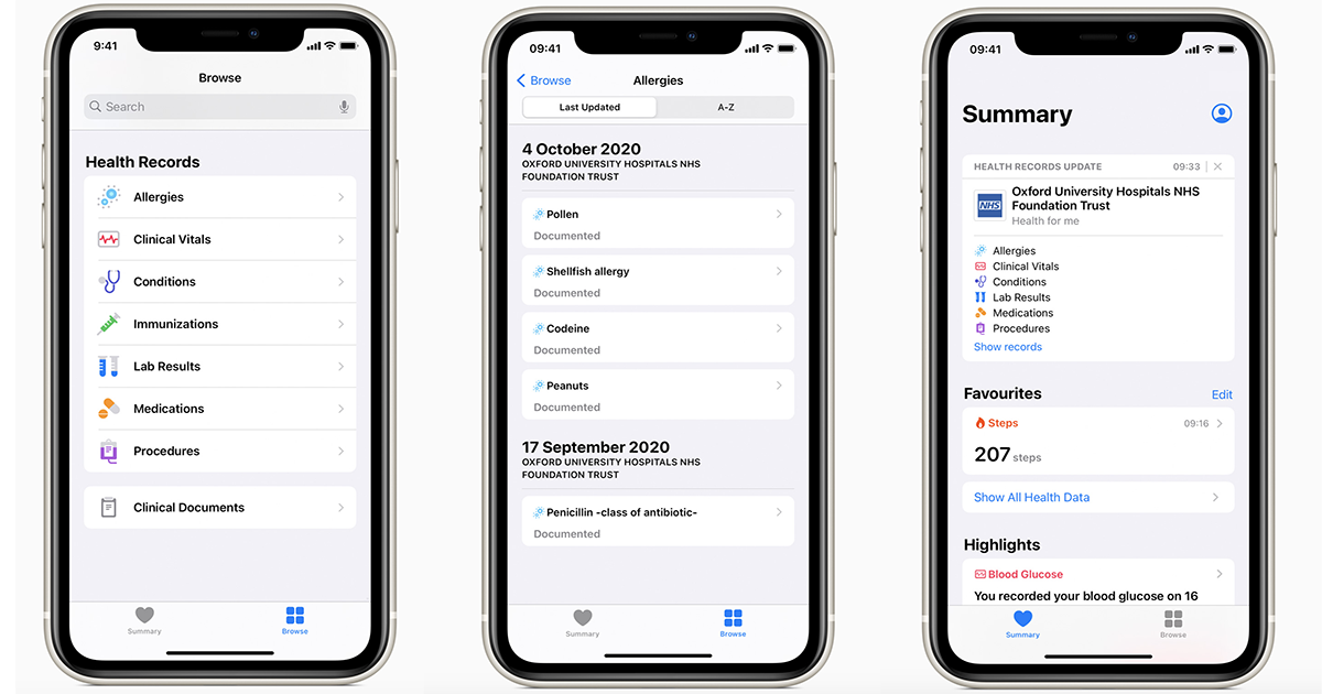 Apple Health Records goes international with rollouts at five UK, Canadian providers