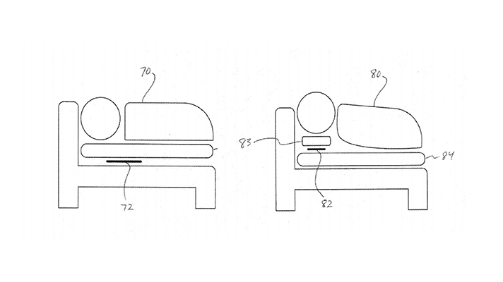 Apple acquires patent rights for in-bed health sensor system