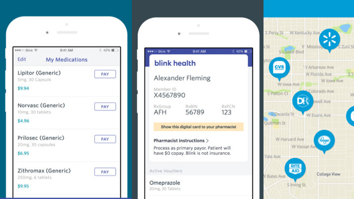 Blink Health launches app to help consumers find prescription drug