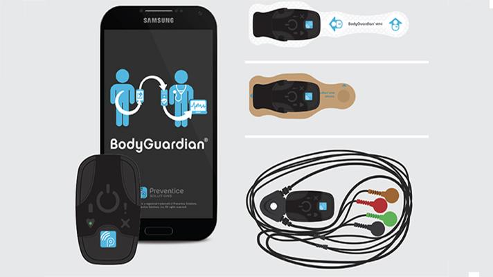 The BodyGuardian Mini Plus device and companion app