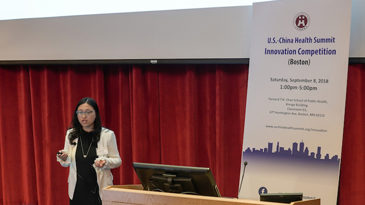 Sally Liang speaks at the US-China Summit