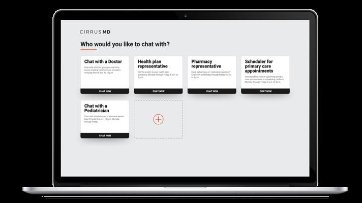 CirrusMD's web app