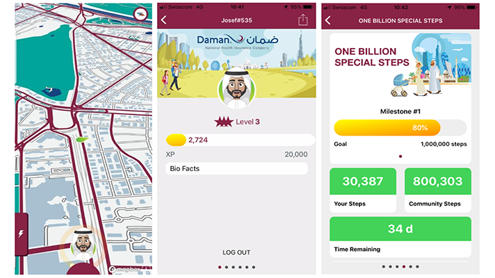 dacadoo, UAE insurer launch activity mobile game, community step challenge