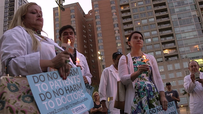 a screensnap of Do No Harm trailer about doctor burnout