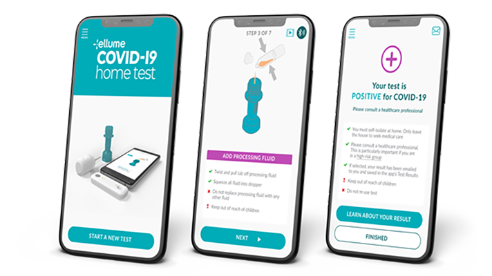 The Ellume COVID-19 Home Test was the first rapid self-test authorized by the FDA for the detection of COVID-19 in individuals with or without symptoms.
