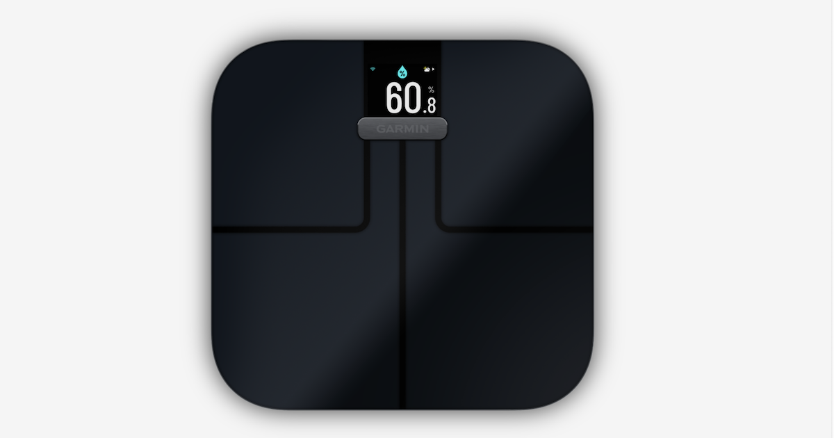 Photo of the Garmin smart scale