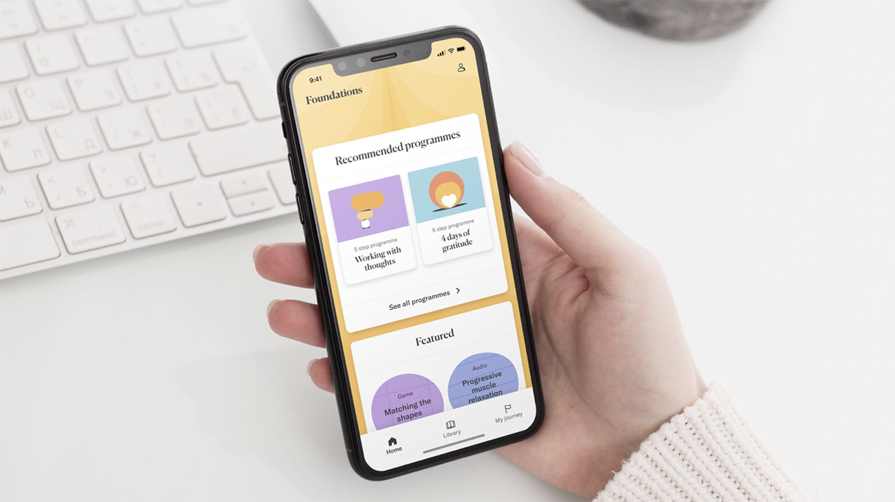 An image of the Foundations app