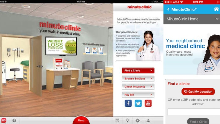 cvs minuteclinic app to get new wait times  remote