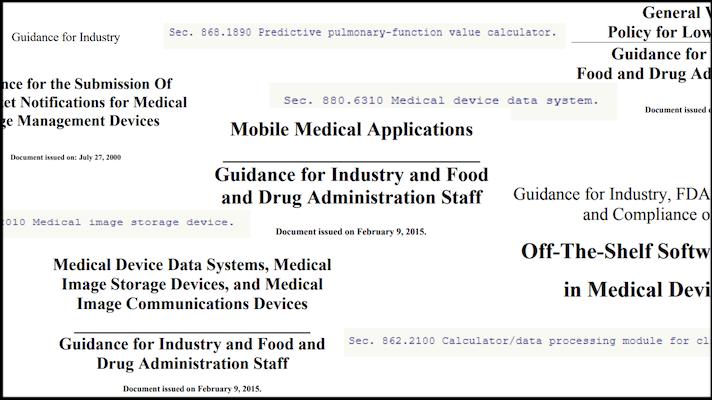 Some false or misleading guidances on FDA's website.