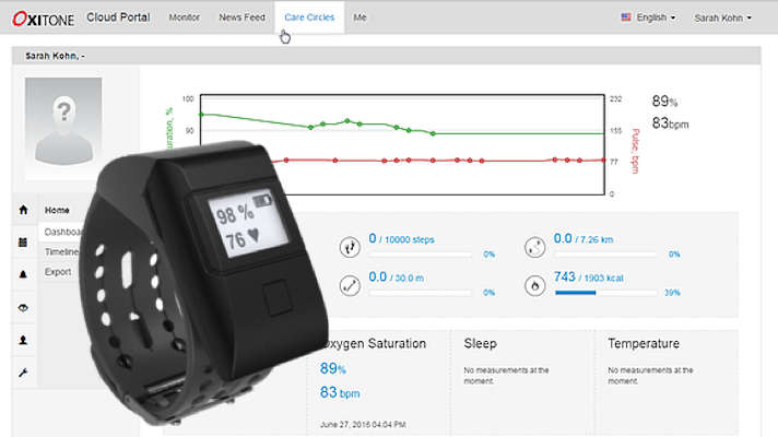 FDA clears Oxitone's wrist-worn pulse ox for remote patient