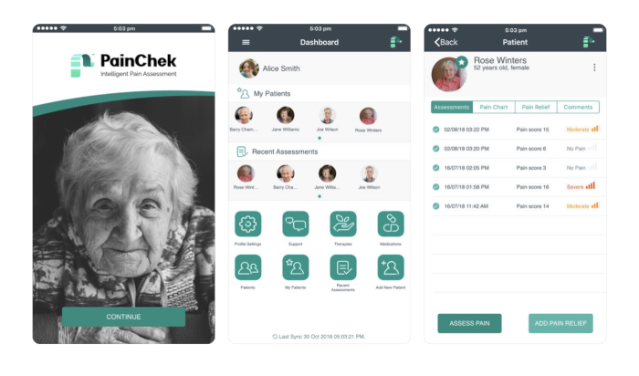 PainChek pain recognition app granted US patent for pain assessment