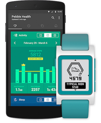 Pebble updates health tracking features on app and device