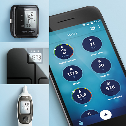 Philips launches health watch, connected scale, blood pressure