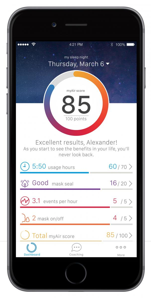 ResMed launches app for CPAP users to track sleep apnea ...