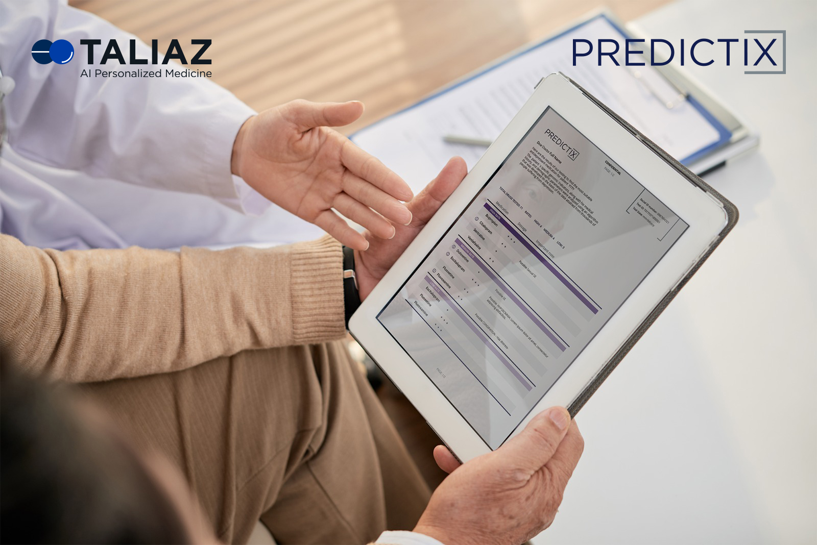 Taliaz PREDICTIX, digital mental health,