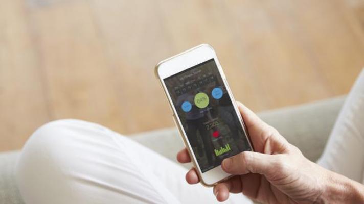 Patient using a health app.