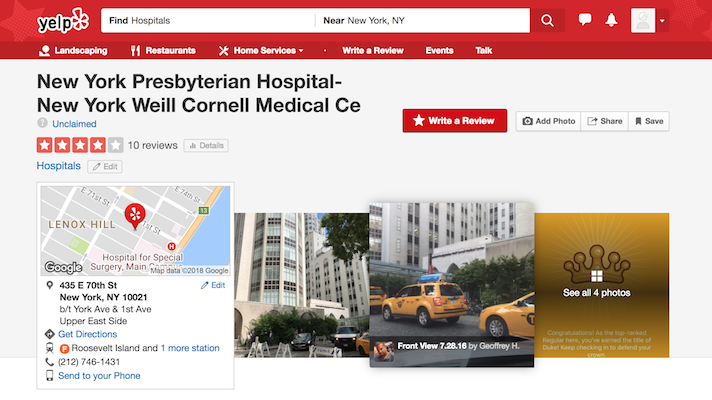 Report: Good Yelp reviews predicted postive outcomes at New York