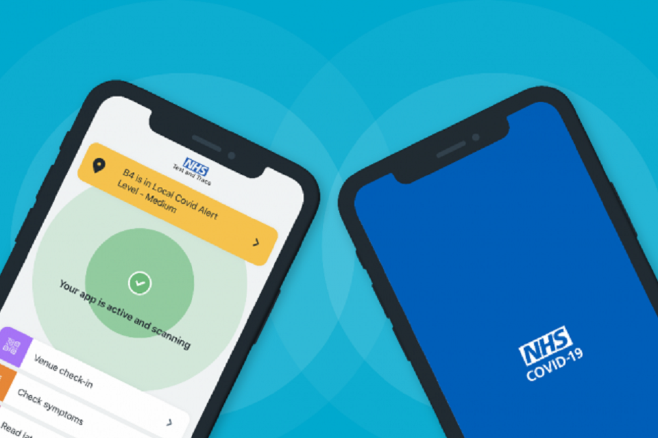NHS Covid-19 app, test and trace