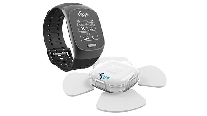 Cuffless blood pressure, oxygenation, heart rate monitor