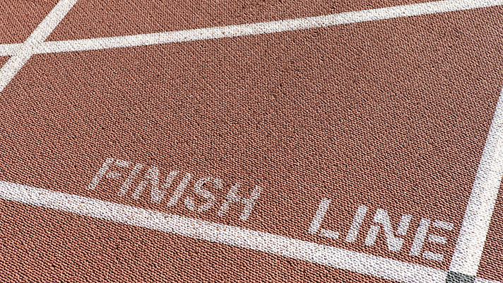 finish line on track
