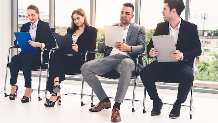 Group applying for a job