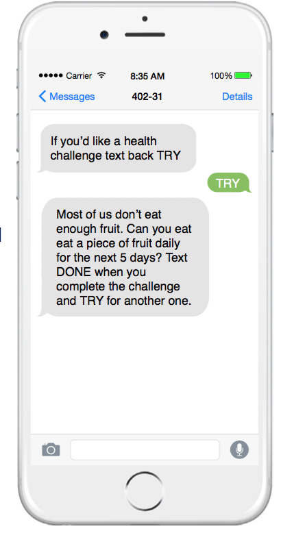 the findings of a three month study evaluating its interactive two way text message program with a medicare and medicaid plan in southern california