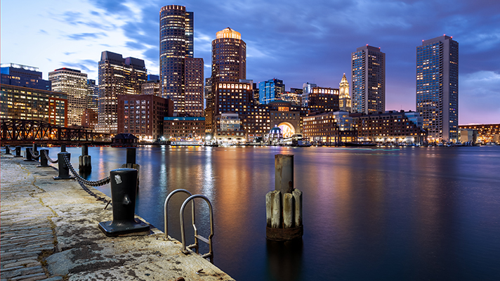 view from South Boston, Massachusetts