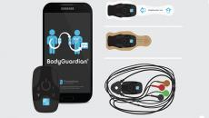 The BodyGuardian Mini Plus device and companion app