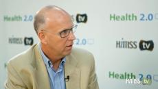 David Hoke from Walmart talking to HIMSS TV
