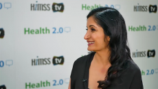 Indu Sabaiya talking to HIMSS TV