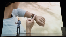 Jeff Williams shows off the Apple Watch ECG in September.
