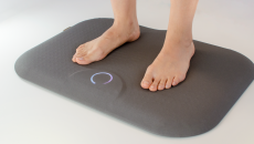 The study used Podimetrics SmartMats to take the temperature of participants' feet and scan for signs of inflammation.