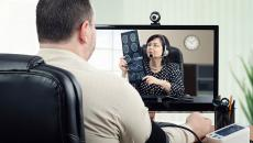 Telehealth imaging appointment.