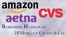 collage of amazon, CVS, aetna, Berkshire Hathaway and JPMorgan logos
