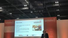 Professor Andrew Morris, Director of Health Data Research UK, speaking at the Genomics Festival in London.