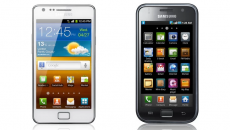 Two older Samsung Galaxy phones side by side.