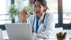 Doctor doing telehealth