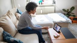 Patient attending telehealth appointment