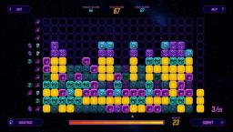 Example of the puzzle game display