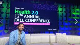 Sas Ponnapalli CEO of Beam on stage at Health 2.0