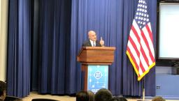 AHRQ Director Gopal Khanna speaking at Blue Button 2.0 Developer Conference at the White House on Tuesday.