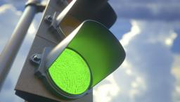A green traffic light