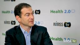 Jack Resneck talking to HIMSS TV at Health 2.0 conference