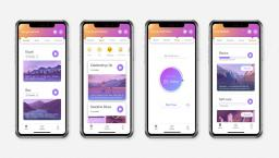 Four screenshots of the MindFi mobile app