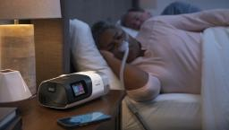 Person sleeping using the ResMed AirSense 11