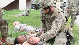 US Army triage training