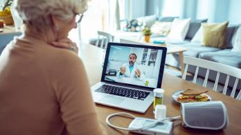 Person on telehealth