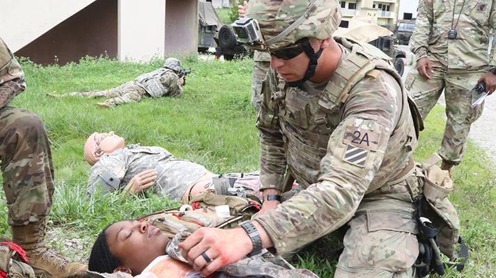 US Army triage training
